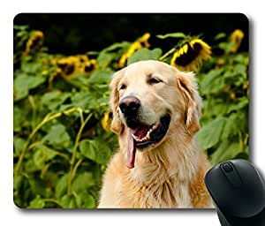 Happily Retriever Puppies ,Rectangle mouse pad