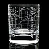 Etched Old Fashioned Whiskey Glasses - with Gift