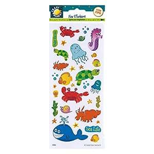 Craft Planet - Adhesivos decorativos, diseño de animales marinos
