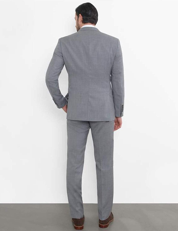 QZI Hombre Traje Chaqueta de Solapa con Doble Botonadura Pantalones