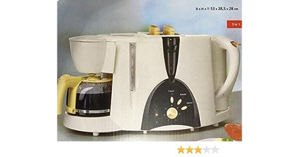 Juego de hervidor de agua, cafetera y tostadora 3 en1: Amazon.es: Hogar