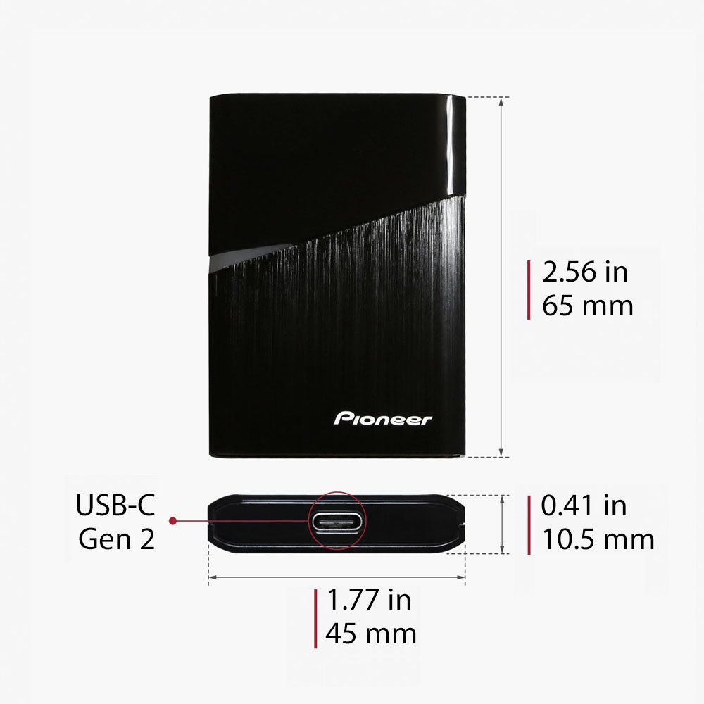 Pioneer USB-C 240GB Portable SSD External SSD Super Small Ultra Slim Compatible with Thunderbolt 3 (APS-XS02-240) by Pioneer (Image #6)