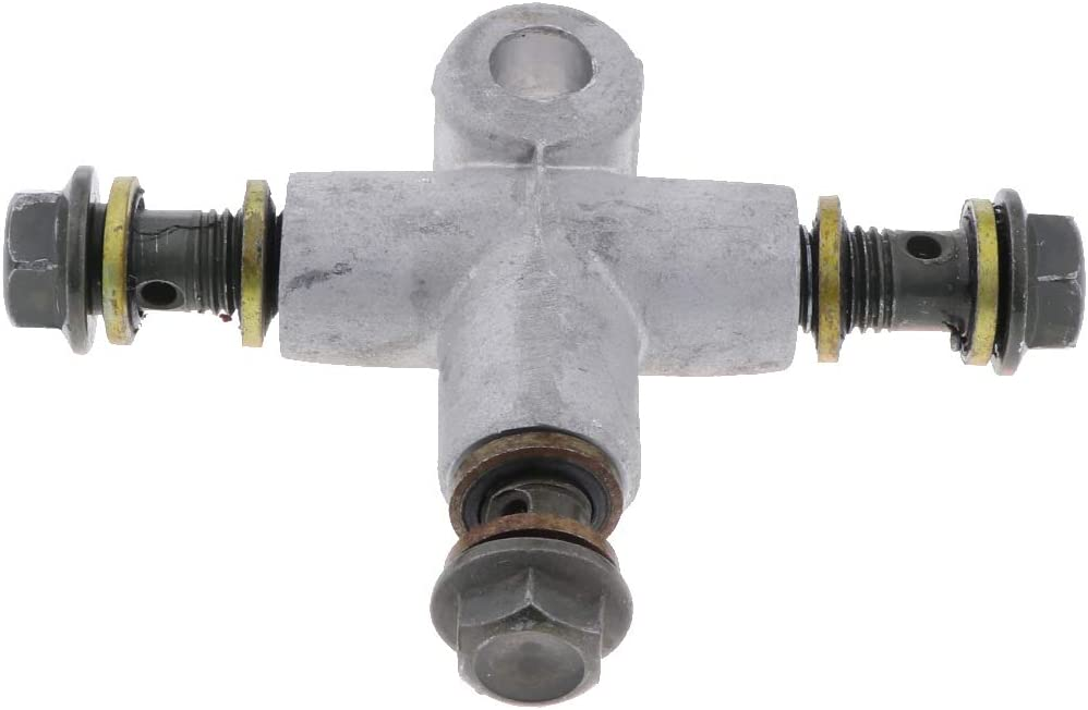 SDENSHI 2 St/ücke T St/ück 10mm Motorrad Bremsverteiler Bremsleitung Verteiler aus Rostfreiem Metall