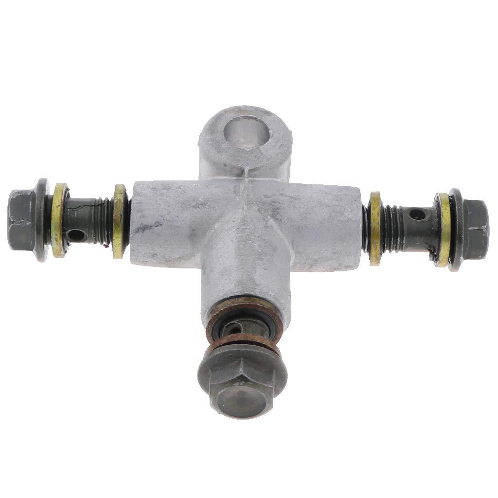 perfk 2xHydraulische Bremsschlauchleitung T St/ü Kupplungsstecker 3 Wege Adapter Bremssystem