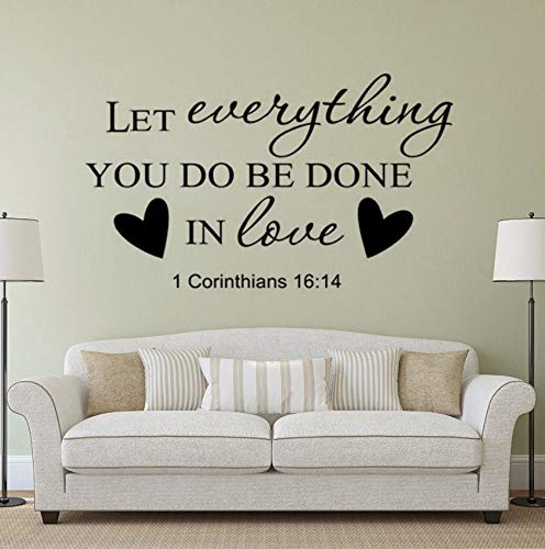 Dalxsh Religious Home Decor Bible Verse Wall Stickers Removable Christian Quotes Wall Decal Religion Vinyl Culture Wall Murals 42x25cm -