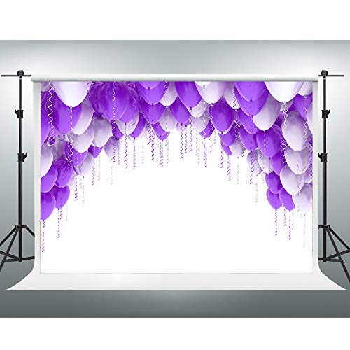 GESEN Background 10x7ft Purple Balloons Simple Elegant Photo Backdrop for Pictures Themed Party Decorations Photo Booth Studio Props GESEN134