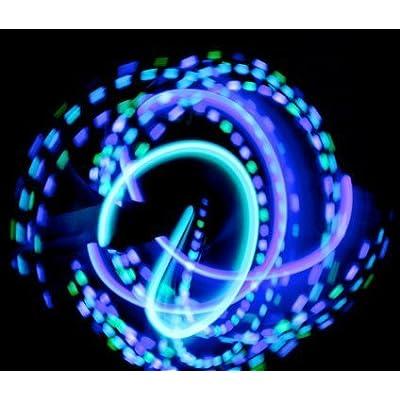 GloFX Team LED Glove Set: Spear Mint - White Rave Glow Gloves