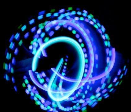 GloFX Team LED Glove Set: Spear Mint - White Rave Glow (Glove Sets Rave Lights)