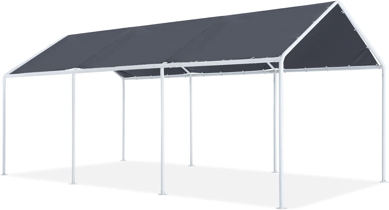 ABCCANOPY 10x20 FT Carport Garage Car Canopy Boat Shelter Party Tent, Gray