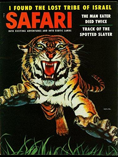 Safari Pulp Magazine November 1955- Lost Tribe of Israel -Tiger cover (Israel Cover)