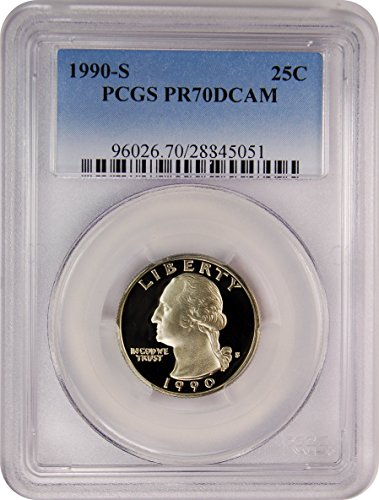 1990 S Washington Quarters Quarter PR70 PCGS