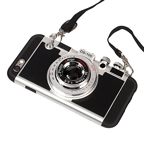 iPhone-66s6-plus6s-Plus-CaseGuojia-3D-Camera-Design-Case-PC-Silicone-Cover-Case-with-Long-Strap-Rope-Moderate-Hardness
