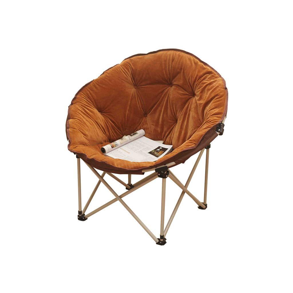 QZ HOME Stühle, Klappstuhl Sonnenliege Mittagspause Stuhl Computer Stuhl Nap Sofa Tragbar Einfach Haushalt Im Freien (Farbe : Braun)