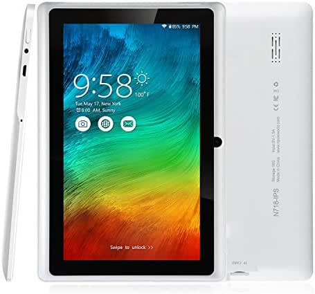 NPOLE Tablet 16GB 1GB IPS 7 Inch Android Quad Core CPU Dual Camera HD Video 3D Game Supported White
