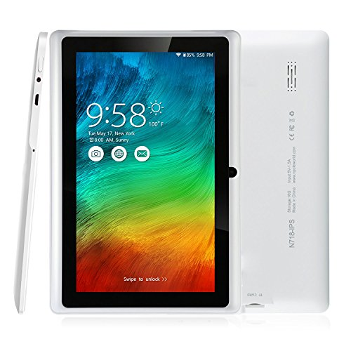 Camera Cpu (NPOLE Tablet 16GB 1GB IPS 7 Inch Android Quad Core CPU Dual Camera HD Video 3D Game Supported)