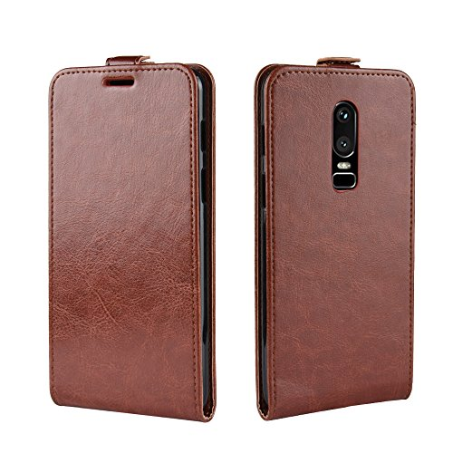 AICEDA OnePlus 6 Wallet Multi Card Holder Excellence Protects Folio PU Leather Cover with Protects Case Replacement for OnePlus 6 - Brown