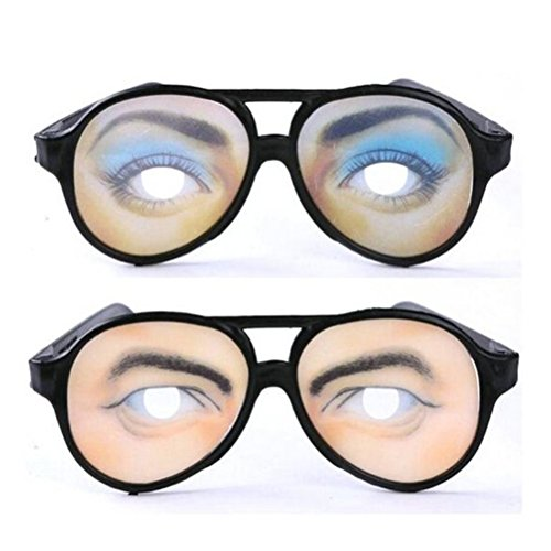 LUOEM Party Eyeglasses Funny Toy Glasses for Custome Birthday Prank Props Pack of (Funny Customes)