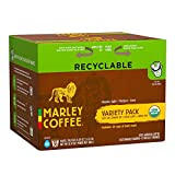 Marley Coffee Marley Mixer Single Serve Real Cup, Organic Variety Pack compatible with Keurig K-cup Brewers, 36-Count