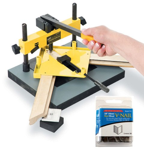Logan Graphics Model F300-1 Studio Frame Joiner with One Package of 200 Logan 3/8 (10mm) V-nails Logan Framing Tool Hardware