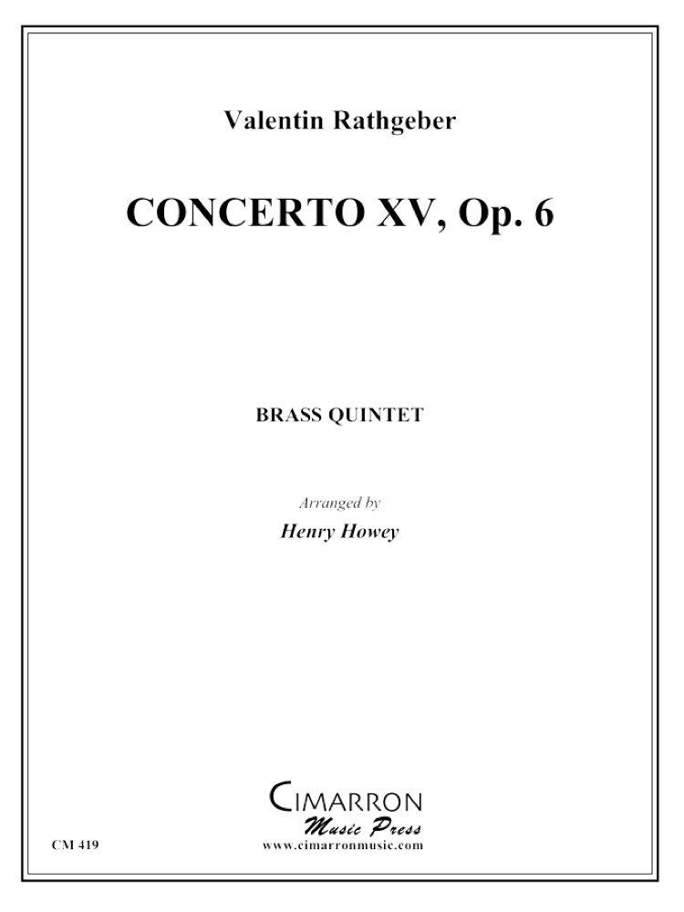 Concerto XV, Op. 6 (in Bb) PDF