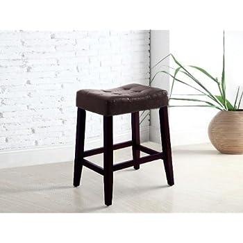 Amazon Com 2 24 Quot Saddle Back Espresso Bar Stools Kitchen
