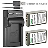 Kastar Battery (X2) & Slim USB Charger for Olympus BLS-5, PS-BLS5 and Olympus OM-D E-400 E-410 E-420 E-450 E-600 E-620 E-P1 E-P2 E-P3 E-PL1 E-PL2 E-PLE15 E-PM1 E-PM2 E-M10 E-PL6 E-PL5 stylus 1 Camera