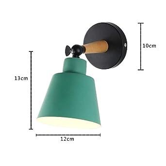 Proyectores de pared madera mesita de noche dormitorio lámpara de ...