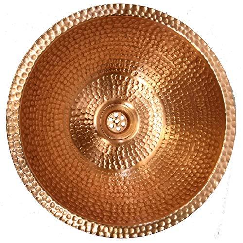 - Polished Gold Copper Overmount Undermount Vessel Bathroom Sink