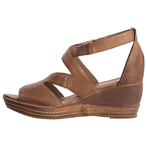 Antelope Womens 439 Leather Cut & Strap Wedge Taupe Puh6964yzV