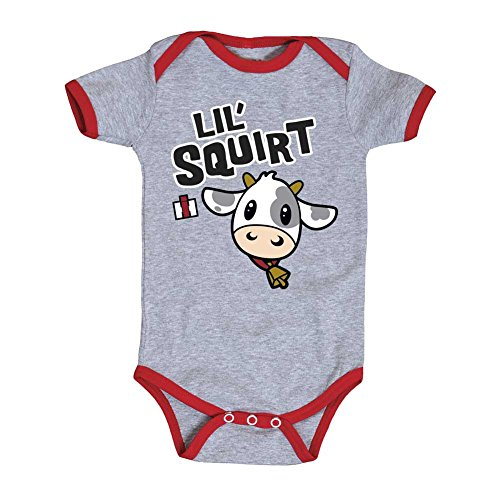 Lil Squirt Case IH Cute Cow Cartoon Aniaml Tractor Farm Infant Baby One (Lil Cow)