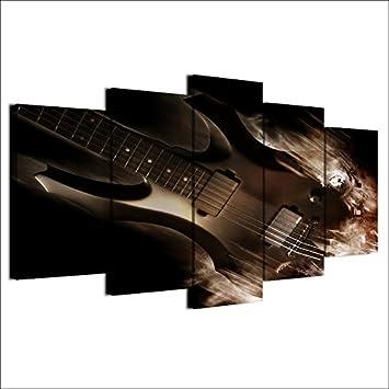 Eotifys Impresiones sobre Lienzo Pinturas de Lienzo HD Impreso Imágenes Arte de la Pared Lienzo 5 Piezas Abstracto Clásico Guitarra el