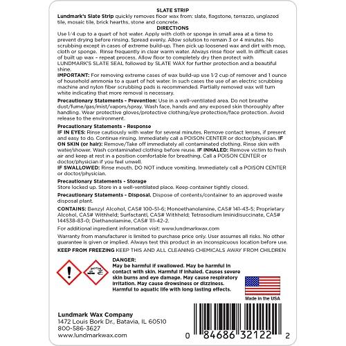 Lundmark Slate Strip to Strip Wax Build-up, 32-Ounce, 3212F32-6
