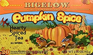 Bigelow Pumpkin Spice Tea, 1 Box of 20 Bags
