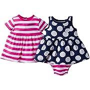 Gerber Baby Girls 3 Piece Dress Set, Daisies, 3-6 Months