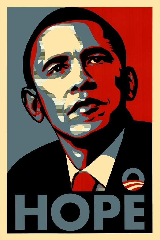 Barack Obama Hope Political Campaign Art Cool Wall Decor Art Print Poster 24x36