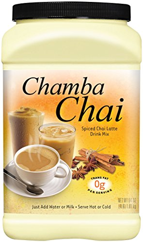 (Chamba Chai Spiced Chai Latte Drink Mix, 64 Ounces)