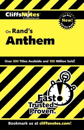 CliffsNotes on Rand's Anthem (Cliffsnotes Literature Guides) PDF