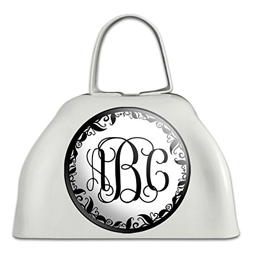 Graphics and More Personalized Custom White Cowbell Cow