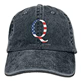 LETI LISW QAnon American Flag I'm Part The StormClassicBaseball Cap Adult Unisex Adjustable Cap