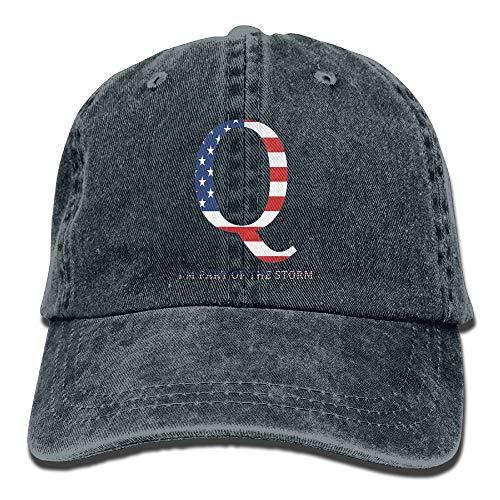 LETI LISW QAnon American Flag I'm Part The StormClassicBaseball Cap Adult Unisex Adjustable Cap by LETI LISW (Image #1)