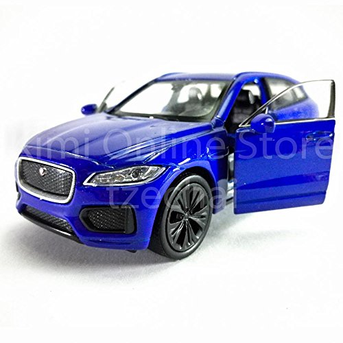 Welly 1:34-1:39 Die-Cast Jaguar F-Pace Car Blue Color ジャガーF-ペースカー ブルー青色 コレクション 贈り物 引出物 ダイキャストおもちゃ Model Collection Christmas New Gift