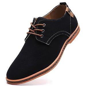 DADAWEN Men's Casual Canvas Lace Up Oxfords Shoes
