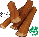 Cheap 5″ Straight Bully Sticks for Dogs [LARGE THICKNESS] (25 Pack) – All Natural & Odorless | Long Lasting Dog Chew Dental Treats | Best Thick Bully Sticks | Grass-Fed Beef Bully Pizzle Bone | Dog or Puppy