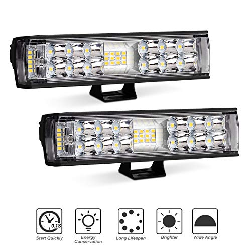 led light pods 2pcs 72w 6 inch