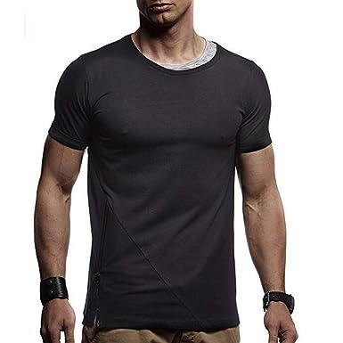 Casual Camisetas MISSWongg Poliéster Camisa de Manga Corta de la ...