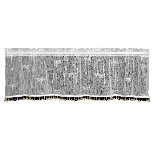 fly 45-Inch Wide by 15-Inch Valance with Trim, Ecru ()