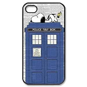 DiyCaseStore Snoopy Lie the Tardis Police Box iPhone 4 4S Best Durable Cover Case Christmas Gift Idea