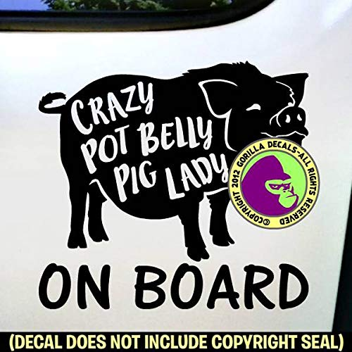 POT BELLY PIG CUSTOM WORDS Bellied Vinyl Decal Sticker A