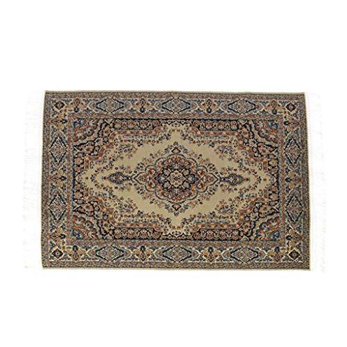 - 1:12 Scale Woven Turkish Rug Carpet for Doll House Mini Interior Model Decor New