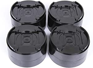 SOCIALCOMFY 8 Pack Round Durable & Stackable Bed Risers Heavy Duty Adjustable Furniture Risers for Bed, Sofa, Table and Chair (Black)
